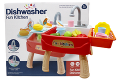 Kitchen Sink Dishwasher Basin Vegetables Toy Set Red (1110)