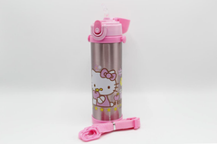 Hello Kitty Pink Thermal Metallic Water Bottle (GX-500)