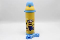 Minions Yellow Thermal Metallic Water Bottle (MT-500)