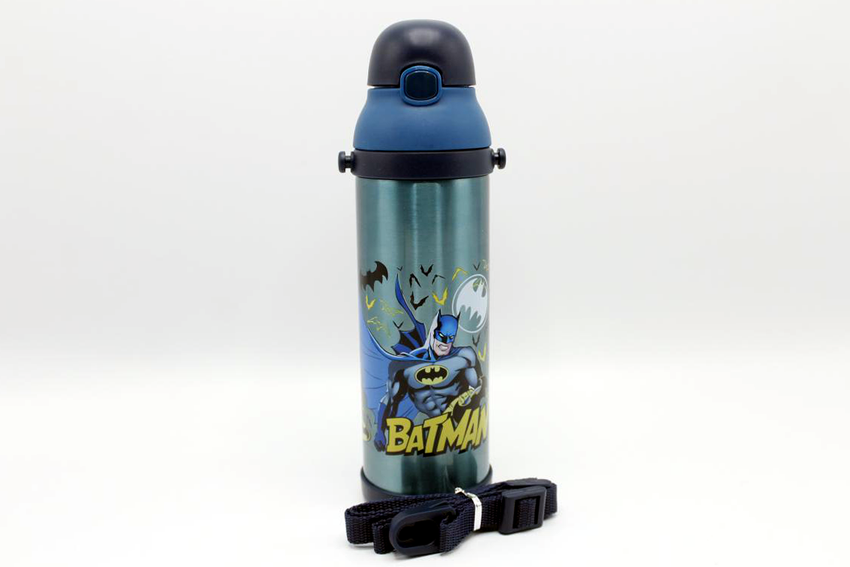 Batman Grey Thermal Metallic Water Bottle (MT-500)