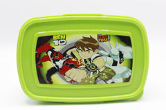 Ben 10 Lunch Box With Spoon And Fork (HK-101)
