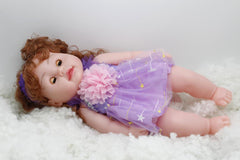 Poem Singing Silicon Doll With Blinking Eyes Purple (QA-2)