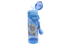 Frozen Blue Water Bottle With Straw (NPC-600)