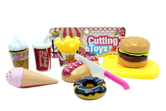 Hot Dog, Burger, Donut, Ice Cream Cutting Set (YJB688B)