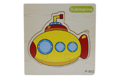 Wooden Submarine Puzzle Board (P-902)