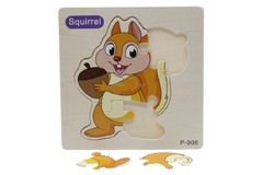 Wooden Squirrel Puzzle Board (P-906)