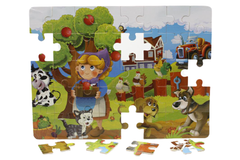Wooden Farm House Puzzle Board (M-009)