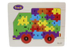 Wooden Abc Truck Puzzle Board (MIF-024)
