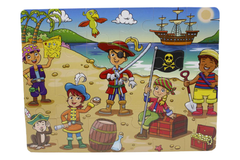 Wooden Pirates of the Caribbean Puzzle Board (M-009)