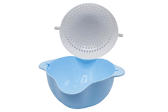 Rotating Bowl and Drain Basket Blue
