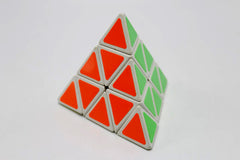 Pyramid Triangle High Speed Stickerless Rubik Cube-Multi Color (B233)