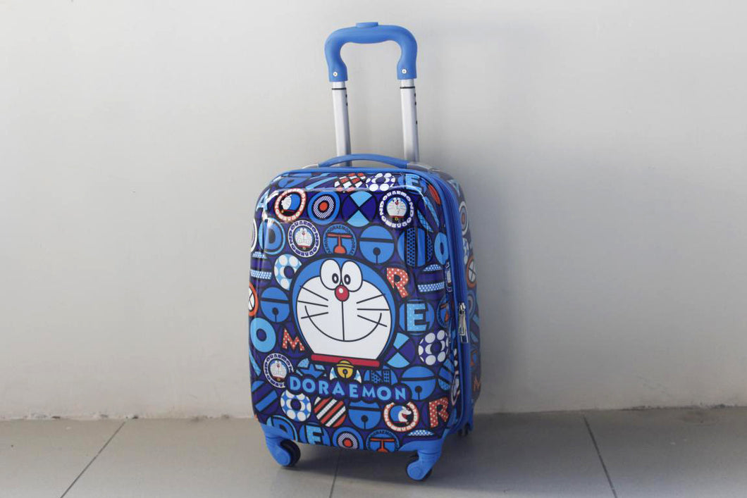 Doraemon 4 Wheels Children Kids Luggage Travel Bag / Suitcase