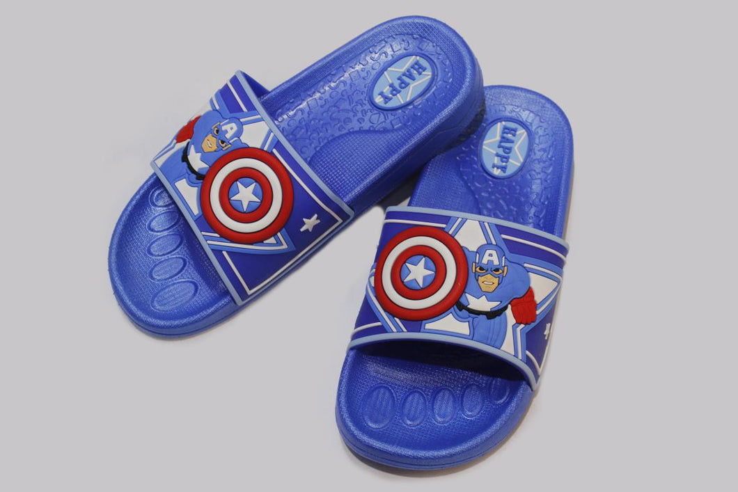 Captain America Slippers Black and Blue