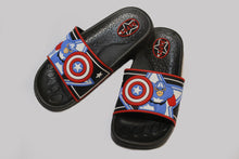 Load image into Gallery viewer, Captain America Slippers Black and Blue