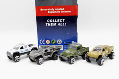 Cars Set Die Cast Metal Pack of 4 (AH-04A)