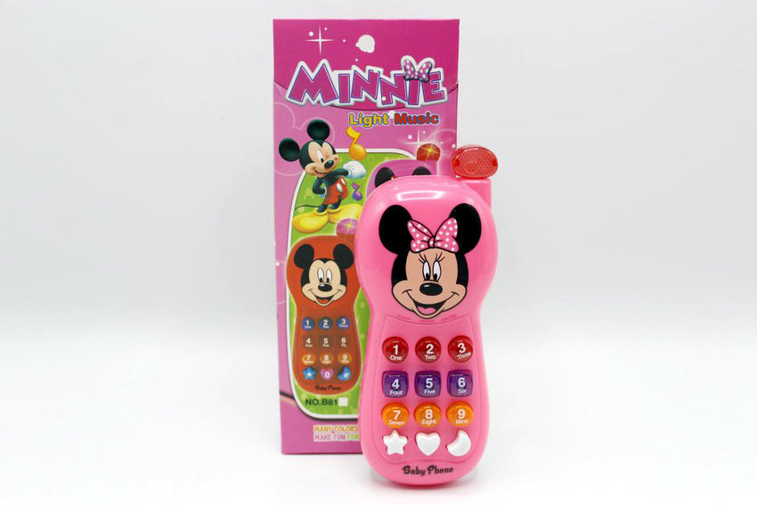 Minnie Mouse Phone Battery Operated Toy Pink (B82)