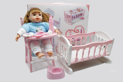 Bonnie Baby Cradle & Chair Stuffed Doll (LD69003A)