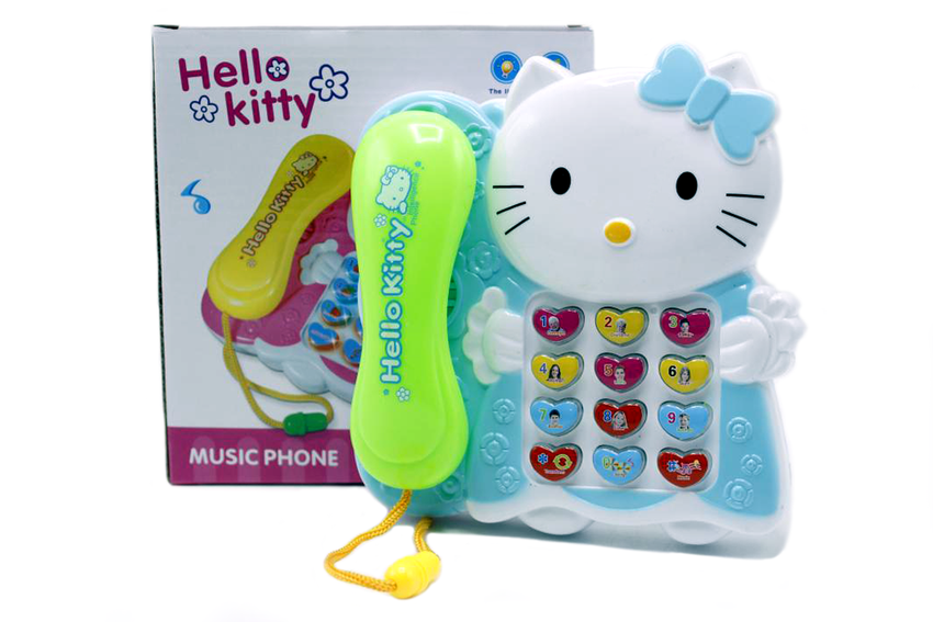 Hello Kitty Phone Battery Operated Toy (9908-1)