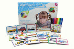 Drawing & Reading Board Cards With Markers (7077-46)