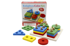 Wooden Enlighten Color Set Stacking Toy (KC2953)