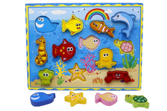 Wooden Sea Animal Shape Board (KC4034)