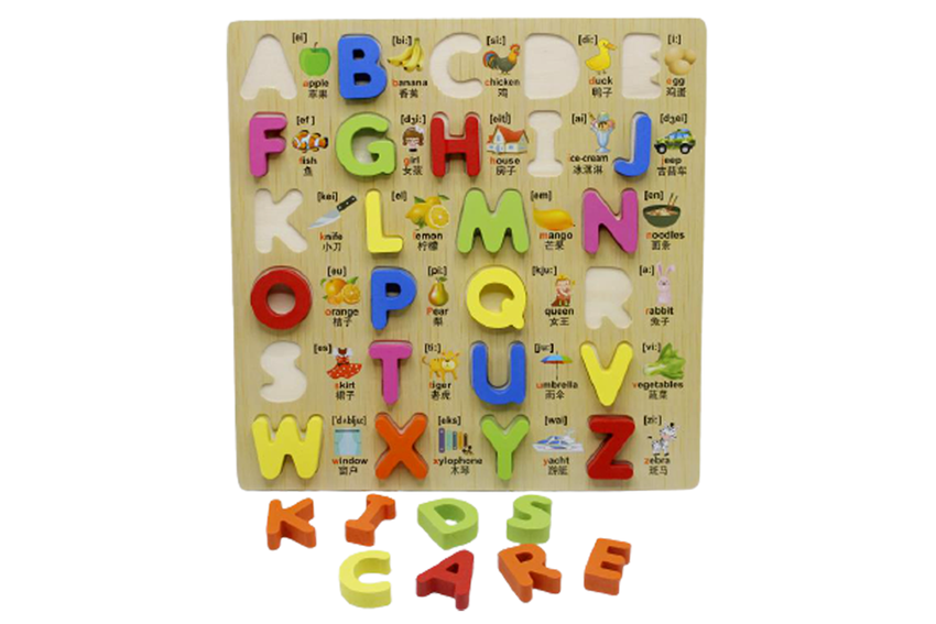 Wooden ABC Board Capital Letters (KC4043)
