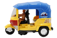 Beat Tricycle/Rickshaw Battery Operated Toy Yellow (3288B)