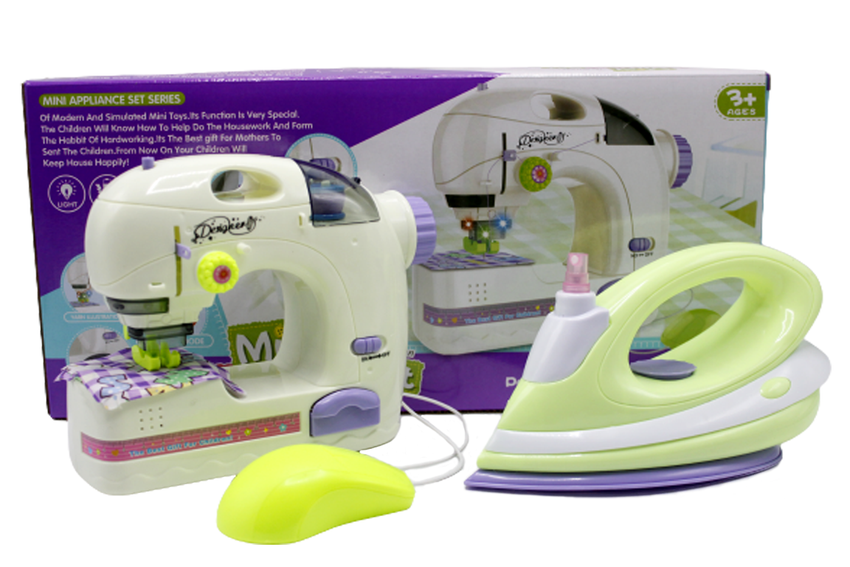 Sewing Machine And Iron Mini Appliance Set Toy (6700A)