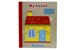 Wooden House Book Puzzle (KC4037)