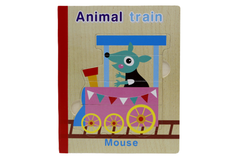 Wooden Animal Train Book Puzzle (KC4039)