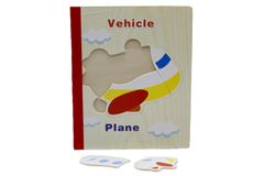 Wooden Vehicle Book Puzzle (KC4040)