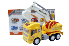 Engineering Car Excavator Truck Yellow With Light & Sound (8030-1A)