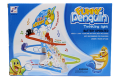 Funny Penguin Twinkling Light Battery Operated Toy (5577-9)