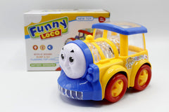 Funny Loco Train Engine With Flashing Lights And Music Toy For Kids (3188B)