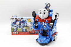 2 In 1 Deformation Thomas Train GoGo Transform Car/Robot with Light & Sound (8992A)