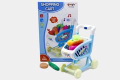 Mini Shopping Cart/Trolley With Full Grocery Food Toy Playset For Kids (CK5685, CK5686)