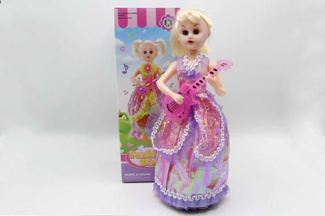 Fashion Girl With Guitar Bump & Go Battery Operated Toy (701)