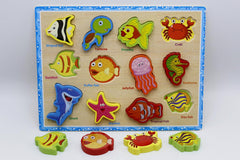 Wooden Sea Animals Shape Board (KC4049)