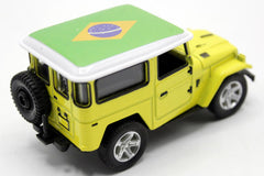 Brazil Flag Pull Back Die Cast Metal Model Car (M8598B)