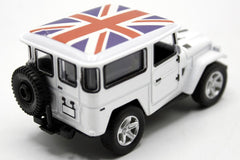 United Kingdom Flag Pull Back Die Cast Metal Model Car (M8598B)