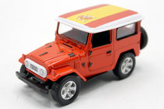 Spain Flag Pull Back Die Cast Metal Model Car (M8598B)