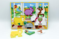 Wooden Farm Animal Shape Board (KC4050)