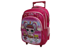 Cartoon Character School Bag Trolley For Grade-1 & Grade-2 (6018-16)