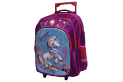 Cartoon Character School Bag Trolley For Grade-3 And Above (6018-18)