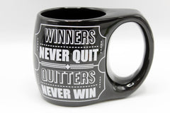 Winners Never Quit Quitters Never Win Ceramic Mug (BA603)