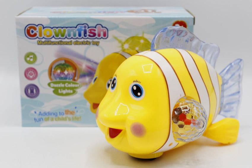 Clown Fish Bump & Go With Lights & Sound Battery Operated Toy (ZR143-1)