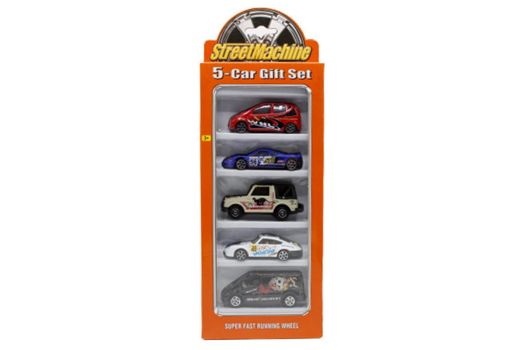 Street Machine Cars Set Die Cast Metal Pack of 5 (PT-2006C)