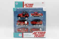 Fire Rescue Team Metal Die Cast Cars Set (6003-6)