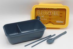 Lunch Box Plain With Spoon And Noodle Stick With Partition (JT-105)