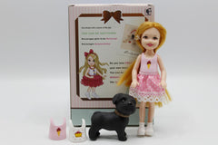 Sally Doll Set With Dress And Puppy (7723)